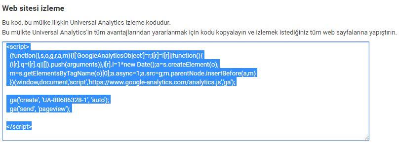 Google Analytics Kodu Nereye Eklenir