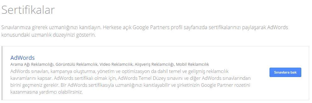 Google Adwords Sertifika Sınav Soruları - Sertifika Sahibi Yapıyoruz